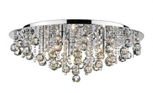 Pluto 5-light Polished Chrome Flush Ceiling Light PLU5450